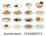 fried shrimp  tonkatsu  deep... | Shutterstock .eps vector #1524083471