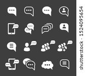 speech bubble icons. message...