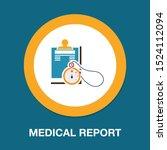 vector medical report  patient...   Shutterstock .eps vector #1524112094