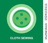 vector clothes button... | Shutterstock .eps vector #1524113111