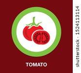 vector vegetable tomato... | Shutterstock .eps vector #1524113114