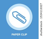 paper clip icon   attach paper... | Shutterstock .eps vector #1524113327