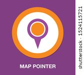 map pointer  map pin  map icon  ... | Shutterstock .eps vector #1524115721