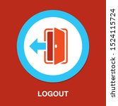 vector logout icon   exit sign  ... | Shutterstock .eps vector #1524115724
