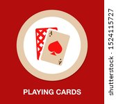 vector playing cards symbols ... | Shutterstock .eps vector #1524115727