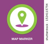 map pointer  map pin  map icon  ...   Shutterstock .eps vector #1524115754
