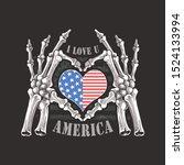 i love you america forever...   Shutterstock .eps vector #1524133994