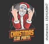 santa claus christmas night...   Shutterstock .eps vector #1524142847