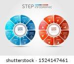 geometric wheel shape elements...   Shutterstock .eps vector #1524147461