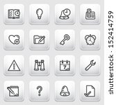 organizer contour icons on gray ... | Shutterstock .eps vector #152414759