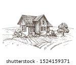 A Vector Image Of A Village...