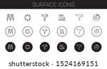 surface icons set. collection... | Shutterstock .eps vector #1524169151