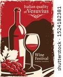 red wine illustration banner...   Shutterstock .eps vector #1524182381