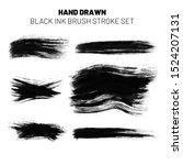 set of black ink brush strokes... | Shutterstock . vector #1524207131