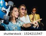 image of stylish multinational... | Shutterstock . vector #1524211547