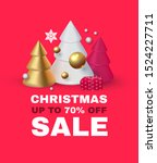 christmas sale  seasonal...   Shutterstock .eps vector #1524227711