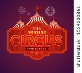 beautiful old circus.   vector | Shutterstock .eps vector #1524230861