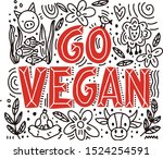 hand drawn lettering with... | Shutterstock .eps vector #1524254591