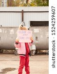 Stock photo little girl protests against nature pollution 1524259607