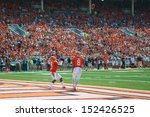 Small photo of CHAMPAIGN,IL-AUGUST 31: Illinois defensive back V'Angelo Bently (2) prepares to catch a kick off return in the end zone for a touchback during the first quarter of a game on Saturday, Aug 31, 2013.