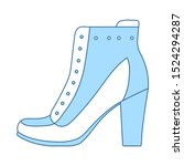 ankle boot icon. thin line with ...
