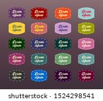set of vintage stickers in... | Shutterstock .eps vector #1524298541