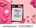 creative paper craft halloween... | Shutterstock . vector #1524298817