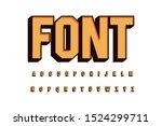 modern font 3d bold and alphabet | Shutterstock .eps vector #1524299711