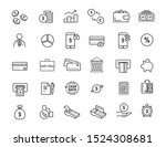 set of linear banking icons....   Shutterstock .eps vector #1524308681