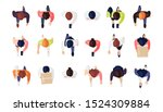 top view of people set isolated ... | Shutterstock .eps vector #1524309884