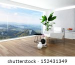 beautiful light living room... | Shutterstock . vector #152431349