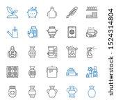pot icons set. collection of... | Shutterstock .eps vector #1524314804