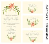 wedding invitation  thank you... | Shutterstock .eps vector #152432549