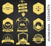 explorer adventure vintage label | Shutterstock .eps vector #152434574