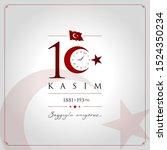 10 kasim vector illustration. ... | Shutterstock .eps vector #1524350234