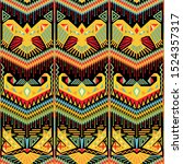 colorful ikat seamless pattern. ... | Shutterstock .eps vector #1524357317
