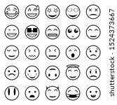 set of outline emoticons  emoji.... | Shutterstock .eps vector #1524373667