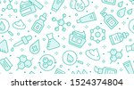 skin care seamless pattern with ... | Shutterstock .eps vector #1524374804