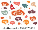 big set of creative bright... | Shutterstock .eps vector #1524375431