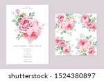 floral and leaves invitation... | Shutterstock .eps vector #1524380897