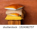 Stock Of Colorful Pillows On...