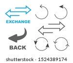 exchange logo. flip over or... | Shutterstock .eps vector #1524389174