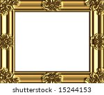 decorative gold frame  also see ... | Shutterstock . vector #15244153