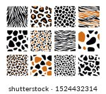 set of seamless pattern with... | Shutterstock .eps vector #1524432314