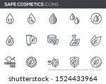 safe cosmetics vector line...   Shutterstock .eps vector #1524433964