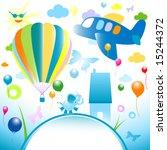 happy world  abstract design... | Shutterstock .eps vector #15244372