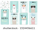 collection of animal background ... | Shutterstock .eps vector #1524456611