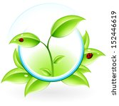 green ecology concept icon with ... | Shutterstock . vector #152446619