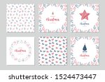 christmas square winter holiday ... | Shutterstock .eps vector #1524473447