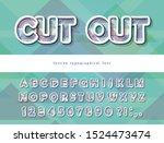 modern dynamic font. cut out... | Shutterstock .eps vector #1524473474